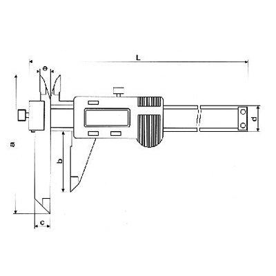 Paquímetro Digital (Bico Ajustável) - 500mm - Leit  0,01mm - Digimess
